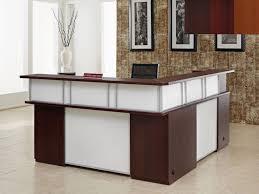 L Reception Desk Cool Fancy L Shaped Reception Desk 78 For Hme Designing
