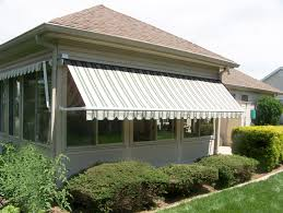 Cloth Window Awnings Canvas Window Awnings With Mirror Windows And Stained White Wall
