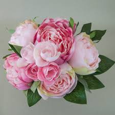artificial peonies artificial peony flowers posy pink artificial flowers