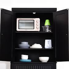 homcom kitchen pantry cupboard wooden storage cabinet organizer shelf white homcom 72 colonial style free standing kitchen pantry
