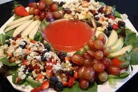 winter berry salad wreath with lemon poppyseed dressing the