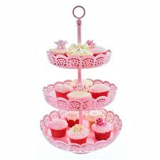 pink cake stand cake lace 3 tier baby pink metal cupcake display stand