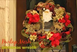 domesticated diva diy burlap mesh christmas wreath
