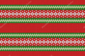 christmas pattern knit fabric winter geometric ornament seamless pattern background in red green