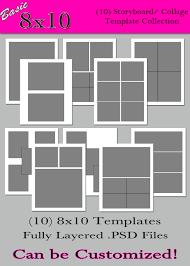 8 X 10 Photo Album Basic 8x10 Collection 10 Custom Photo Storyboard Collage