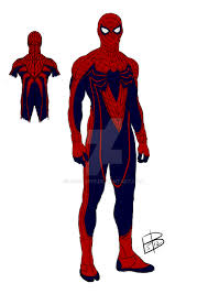 spider man redesign sketch and color by guygar79 on deviantart