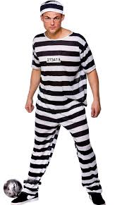 Prisoner Halloween Costumes Prison Break Convict Costume Size Fancy Dress Costume Xl