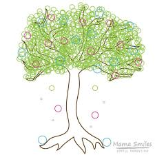 spring tree coloring page pi day inspired