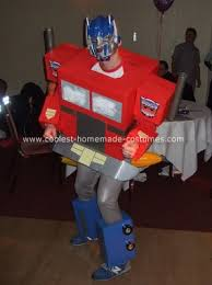 Transformer Halloween Costumes Coolest Homemade Optimus Prime Transformer Costume Transformer