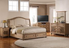 california king upholstered headboard bed with storage footboard