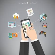 mobile phone apps vector free
