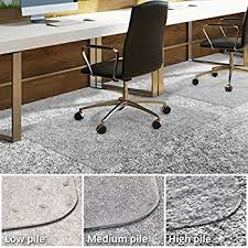 Desk Floor Mat Clear Amazon Com Office Marshal Polycarbonate Chair Mat For High Pile