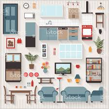 Furniture Icons For Floor Plans Furniture Long Shadows Icons With Lounge Dining Also Kitchen