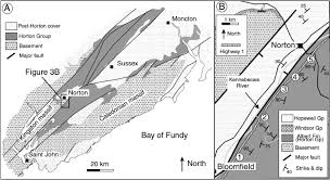 New Brunswick Canada Map Detailed by Early Mississippian Lycopsid Forests In A Delta Plain Setting At
