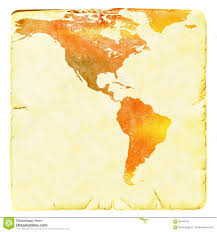 Usa World Map by World Map In Red And Yellow Tones Usa And Latin America Ancient