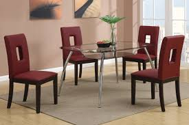 Modern Leather Dining Chairs Furniture Impressive Burgundy Leather Dining Chairs Images Dark