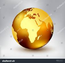 Earth Globe Map World by Earth Globe Icon Map Africavector Golden Stock Vector 600925235