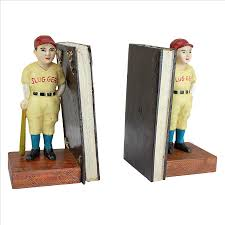 Unique Bookends Baseball Slugger Cast Iron Bookend Set Design Toscano Bookends
