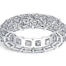 asscher cut diamond engagement rings asscher cut diamond platinum eternity anniversary band ring at 1stdibs