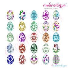 fancy easter eggs embroitique fancy easter eggs complete set 1 25