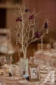Manzanita Branches Centerpieces Manzanita Branch Wedding Centerpiece With Red Orchids Our