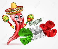 cartoon cinco de mayo a happy cinco de mayo design with red chilli pepper cartoon