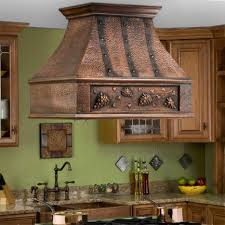 island kitchen hoods 36 tuscan series copper island range grape motif kitchen copper