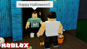 halloween trick or treating with denis in roblox the ghosting