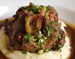 cuisine osso bucco osso bucco serve on mashed potato milanese risotto or polenta