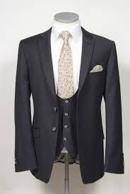 grooms wedding suit grey pure wool flannel slim fit 2 button
