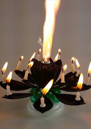lotus birthday candle amazing black lotus flower birthday candle exciting candle