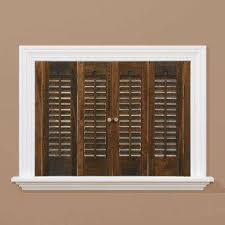 home depot wood shutters interior walnut homebasics wood shutters qspc3160 64 1000i blinds wooden