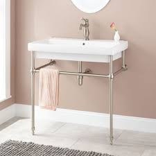 bathroom console vanity pairing classic marble with straight