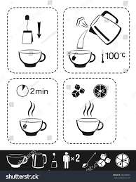 Cooking Infographic by Tea Making Instruction Cooking Infographic Manual Stock Vector