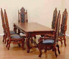Carved Dining Table And Chairs Carved Dining Table King Teak Wood Carving Furniture