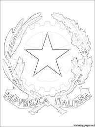 italy u0027s coat arms coloring coloring pages