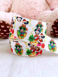 mickey ribbon 3 yards 7 8 christmas mickey and minnie ribbon minnie ribbon