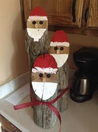 santa log faces holidays decor and crafts pinterest logs