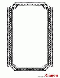 picture frame coloring page 379442