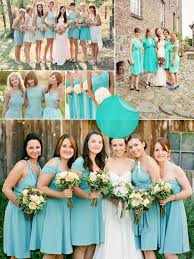 tiffany blue and coral bridesmaid dresses posd dresses trend