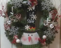 snowman decor etsy