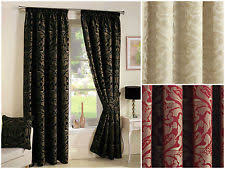 Black Gold Curtains Gold Jacquard Curtains Ebay