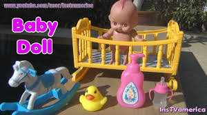 Bathroom Sets For Kids Little Baby Cradle Doll Set For Kids Toy Baby Hobbyhorse Baby