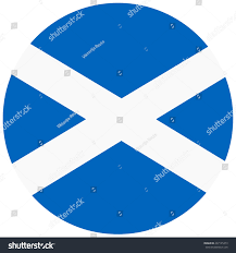 vector illustration flag scotland icon round stock vector