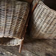 Rattan Baskets by Rattan Square Storage Baskets With Handles By Nkuku U2013 Oates U0026 Co