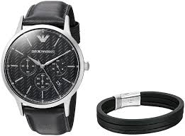 armani watches bracelet images Emporio armani men 39 s ar8034 box set leather quartz jpg