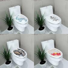 3D Pattern Fashion Design DIY Toilet Seats Stickers Bathroom
