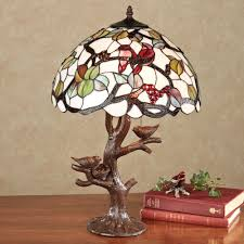 sitting pretty bird stained glass lamp with bulbs