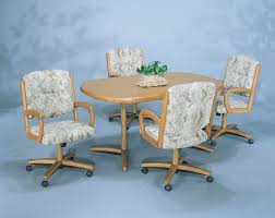 fancy kitchen chairs with rollers with caster dining room chairs