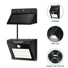 indoor solar lights amazon amazon com illunite solar light bright 10 led waterproof motion